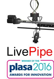 Hoffend LivePipe now available in the UK exclusively through Hall Stage. Winner of the PLASA 2016 Innovation Award.
